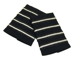 EPAULETS METALLIC SILVER (THIN STRIPE) ON BLACK STRIPE