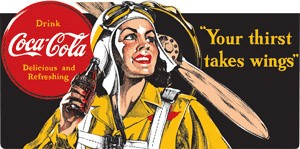 Coke Aviator Sign (Woman Pictured)