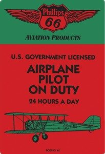 Pilot On Duty Vintage Tin Sign