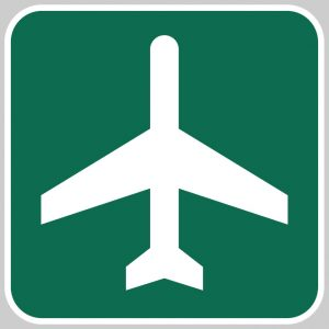Metal Refective Sign, Airport Ahead