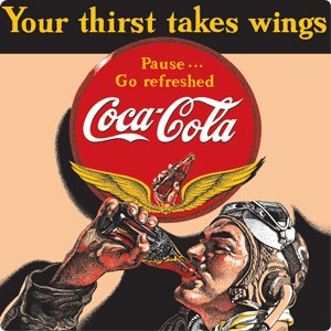 Coke Aviator Sign (Man Pictured)