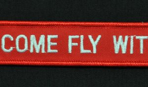 Key Chain, Embroidered, Come Fly With Me