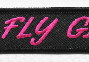 Key Chain, Embroidered, Fly Girl