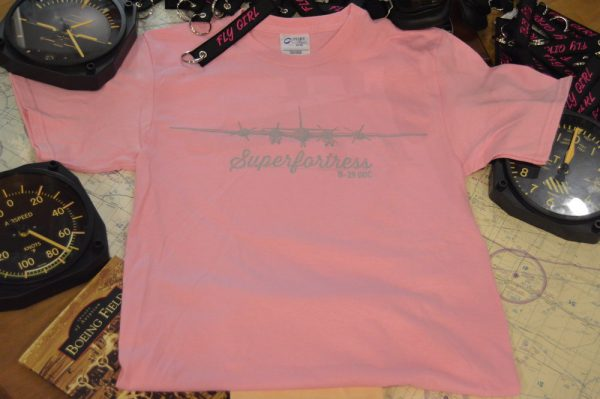 Doc's B29 Superfortress Tshirt is Soft Pink